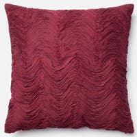Marilyn Red Ruffled Throw Pillow or Pillow Cover 22 x 22