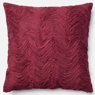 Marilyn Red Ruffled Down Feather or Polyester Filled 22-inch Throw Pillow or Pillow Cover