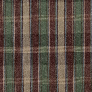 C642 Burgundy Blue Green Beige Large Plaid Country Upholstery Fabric