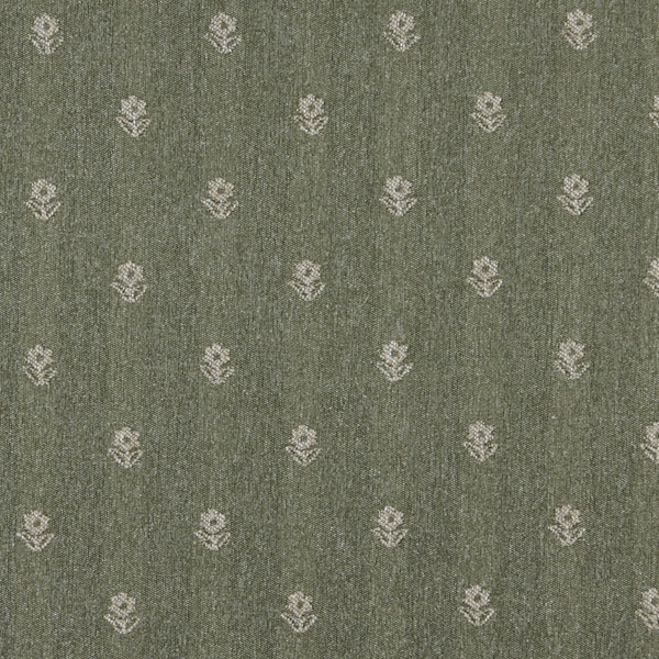 Shop C628 Green And Beige Flower Country Style Upholstery Fabric