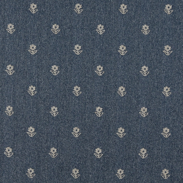 Shop C620 Blue And Beige Flowers Country Style Upholstery Fabric