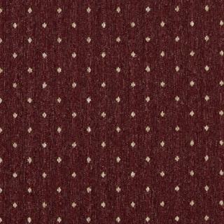 C612 Burgundy and Beige Dotted Country Style Upholstery Fabric