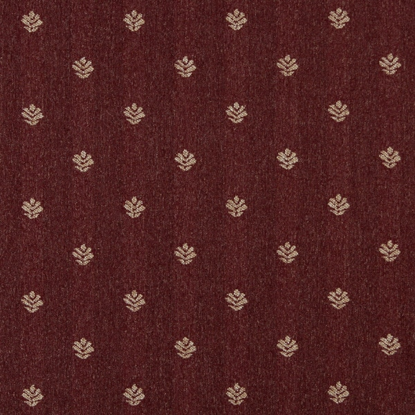 Shop C602 Burgundy And Beige Leaves Country Style Upholstery Fabric