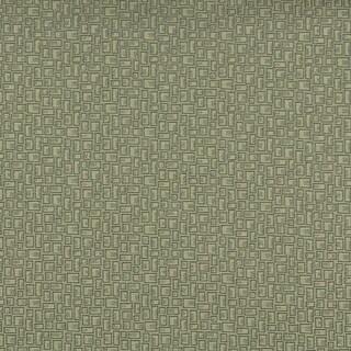 C591 Dark Green Geometric Rectangles Durable Upholstery Fabric