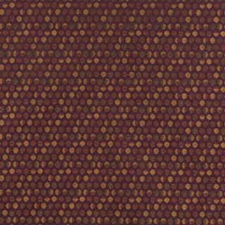 C575 Purple and Gold Geometric Circles Durable Upholstery Fabric