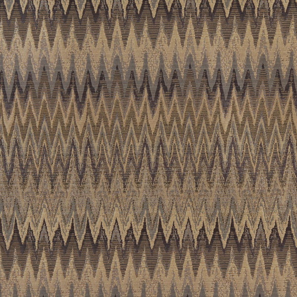 Shop C481 Blue Beige And Gold Woven Flame Stitch Upholstery Fabric