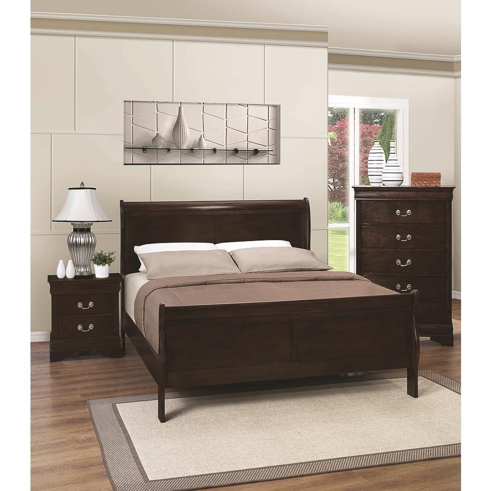Clovis Easton Bed (Clovis Easton Twin Bed Set), Brown