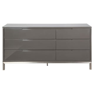 Aurelle Home Pasadena Grey 6-drawer Dresser