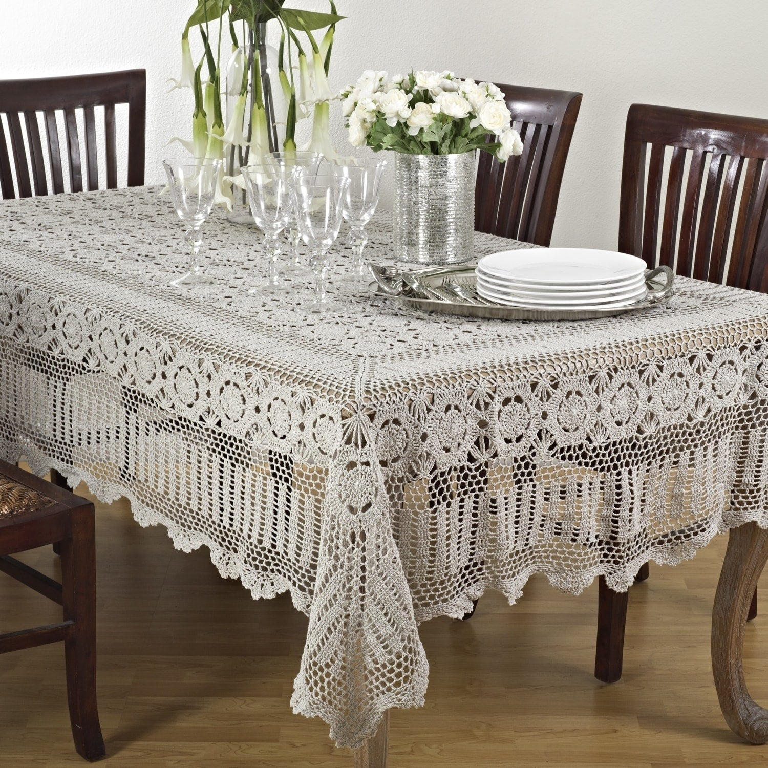 Shop Crochet Lace Tablecloth Free Shipping Today Overstock