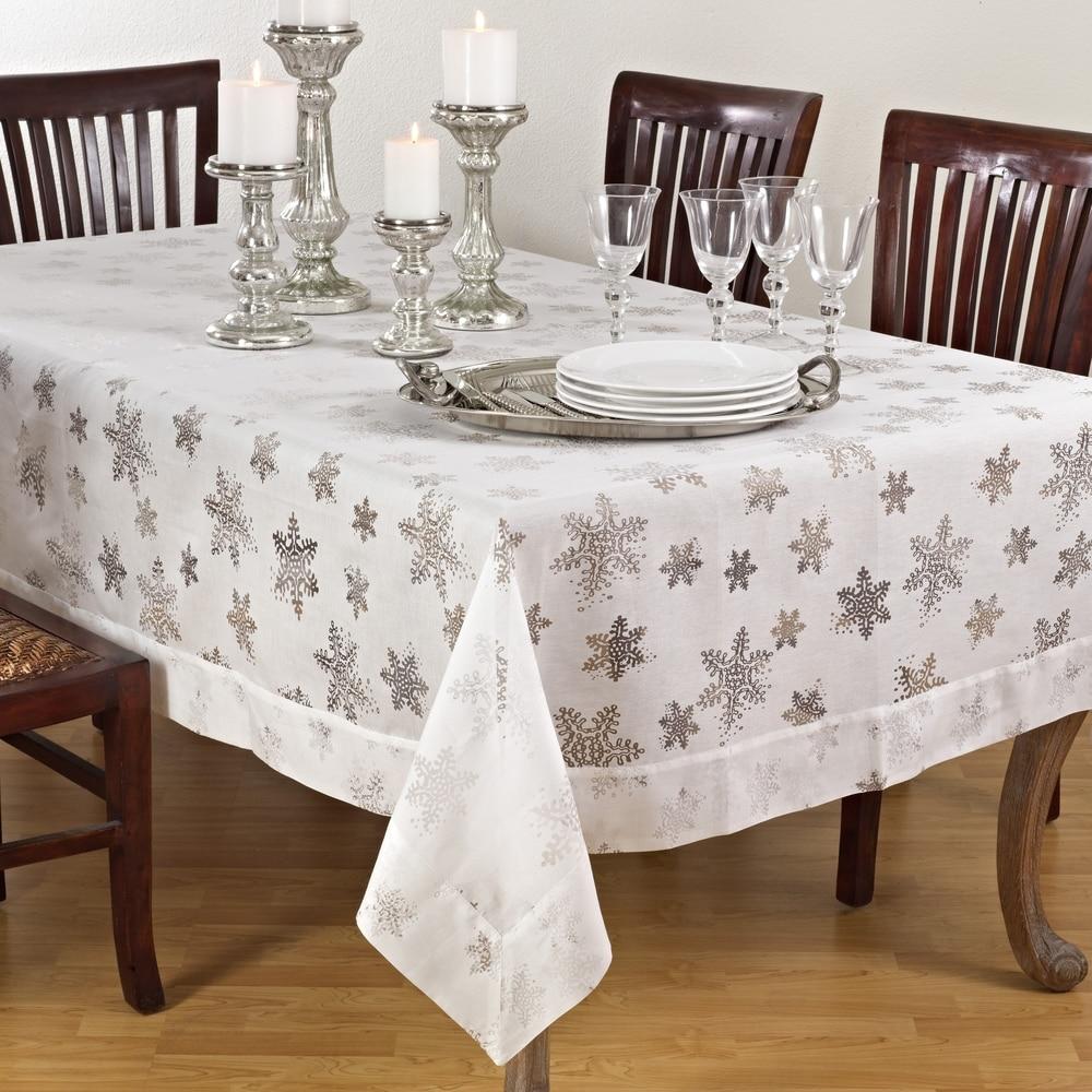 Shop Burnout Snowflake Design Tablecloths - 10287209