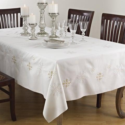 Snowflake Design Table Linens