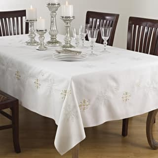 Tablecloths tablecloths for less overstock snowflake design table linens junglespirit Gallery