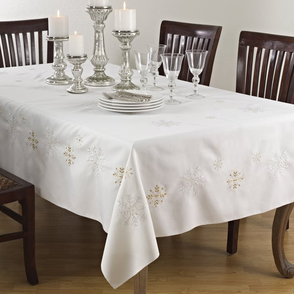 Shop Snowflake Design Table Linens On Sale Free