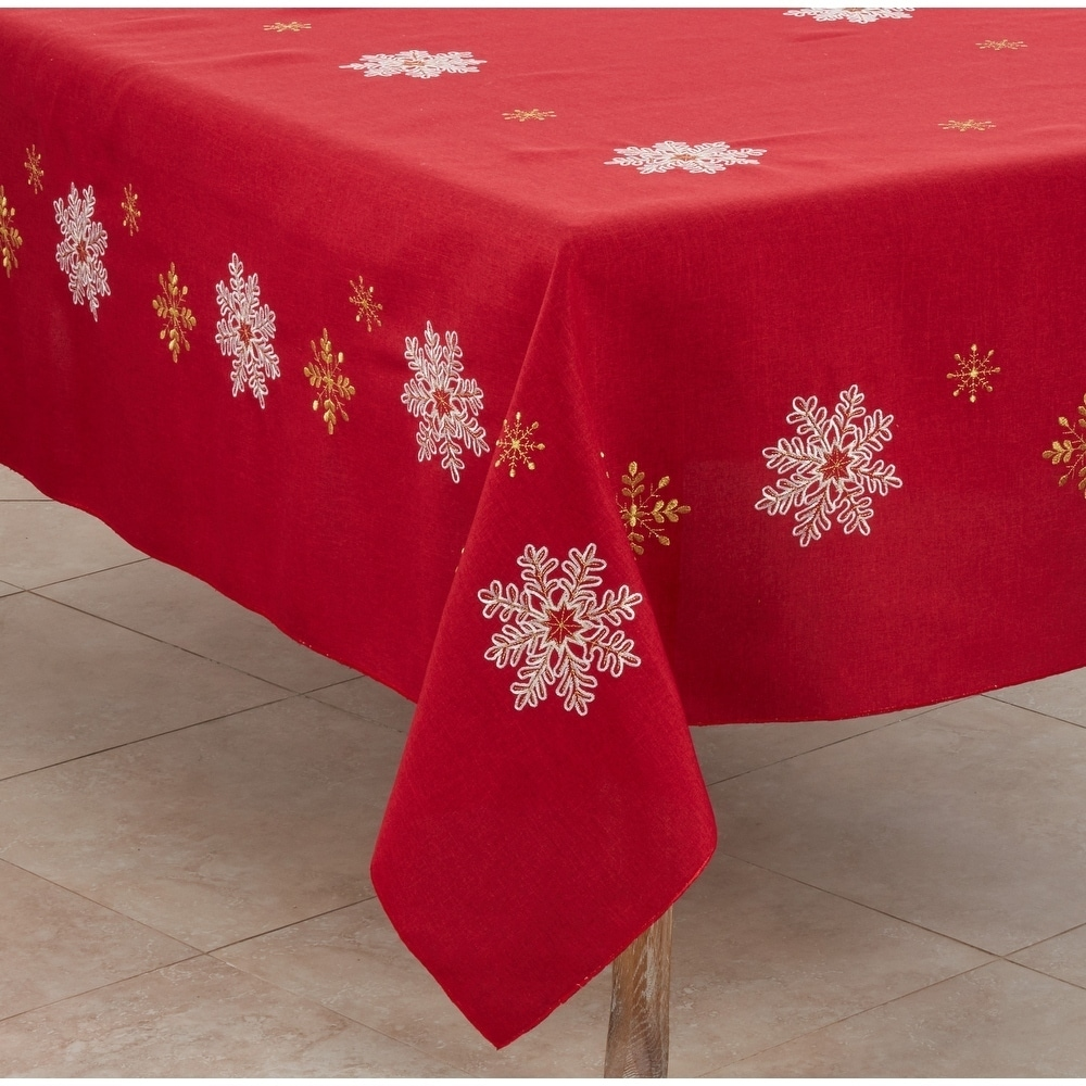 Shop Snowflake Design Tablecloth - Overstock - 10287211