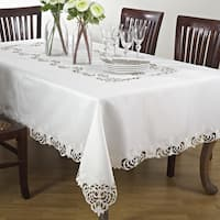 Classic Cutwork Design Tablecloth