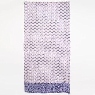 Handmade Paisley Shower Curtain (India)