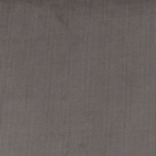 Grey Thin Solid Corduroy Striped Upholstery Velvet Fabric