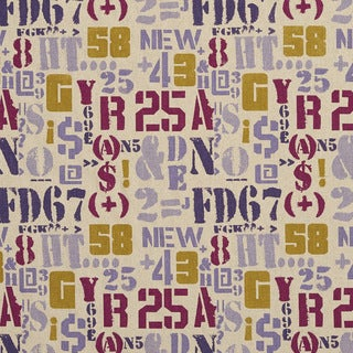 J9400J Letters Numbers and Symbols Novelty Upholstery Fabric