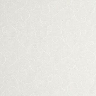 C137 Off White Swirl Trellis Linen Look Upholstery Drapery Fabric