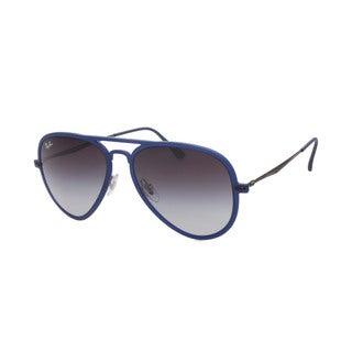 Ray Ban RB4211 Matte Dark Blue Aviator Gray Gradient Lenses Sunglasses