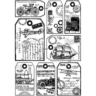 Crafty Individuals Unmounted Rubber Stamp 4.75inX7in Pkg It's A Man's World