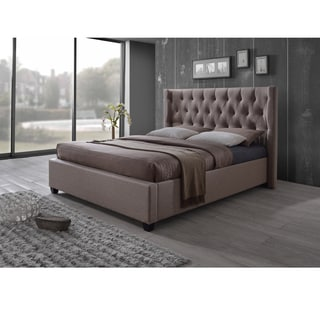 Traditional Fabric Platform Bed by Baxton Studio