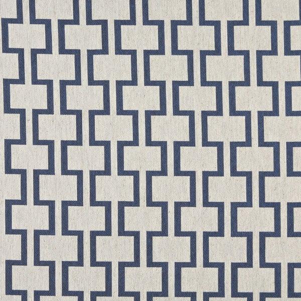 Shop A0002e Blue Off White Modern Geometric Upholstery Fabric Free