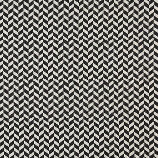 A0004G Midnight Off White Herringbone Check Upholstery Fabric
