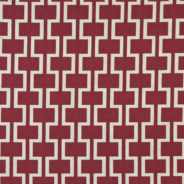 A0006a Red Off White Modern Geometric Upholstery Fabric