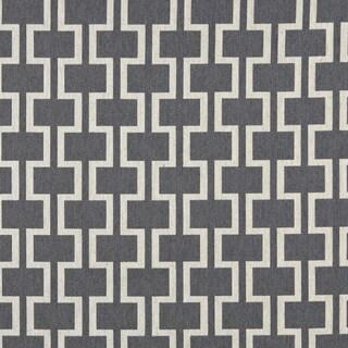 A0006B Blue Off White Modern Geometric Designer Upholstery Fabric