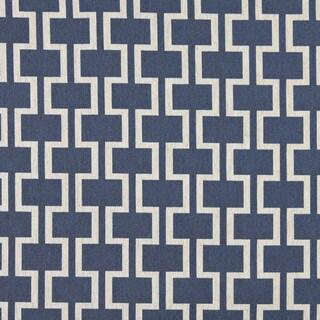 A0006E Blue Off White Modern Geometric Upholstery Fabric