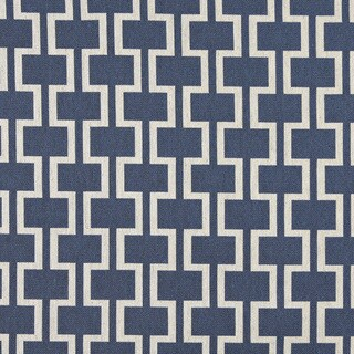 A0006E Blue Off White Modern Geometric Upholstery Fabric