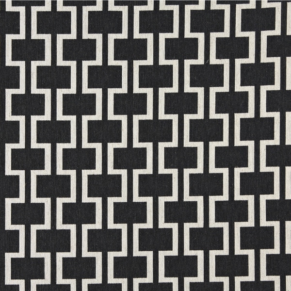 Shop A0006g Midnight Off White Modern Geometric Upholstery Fabric