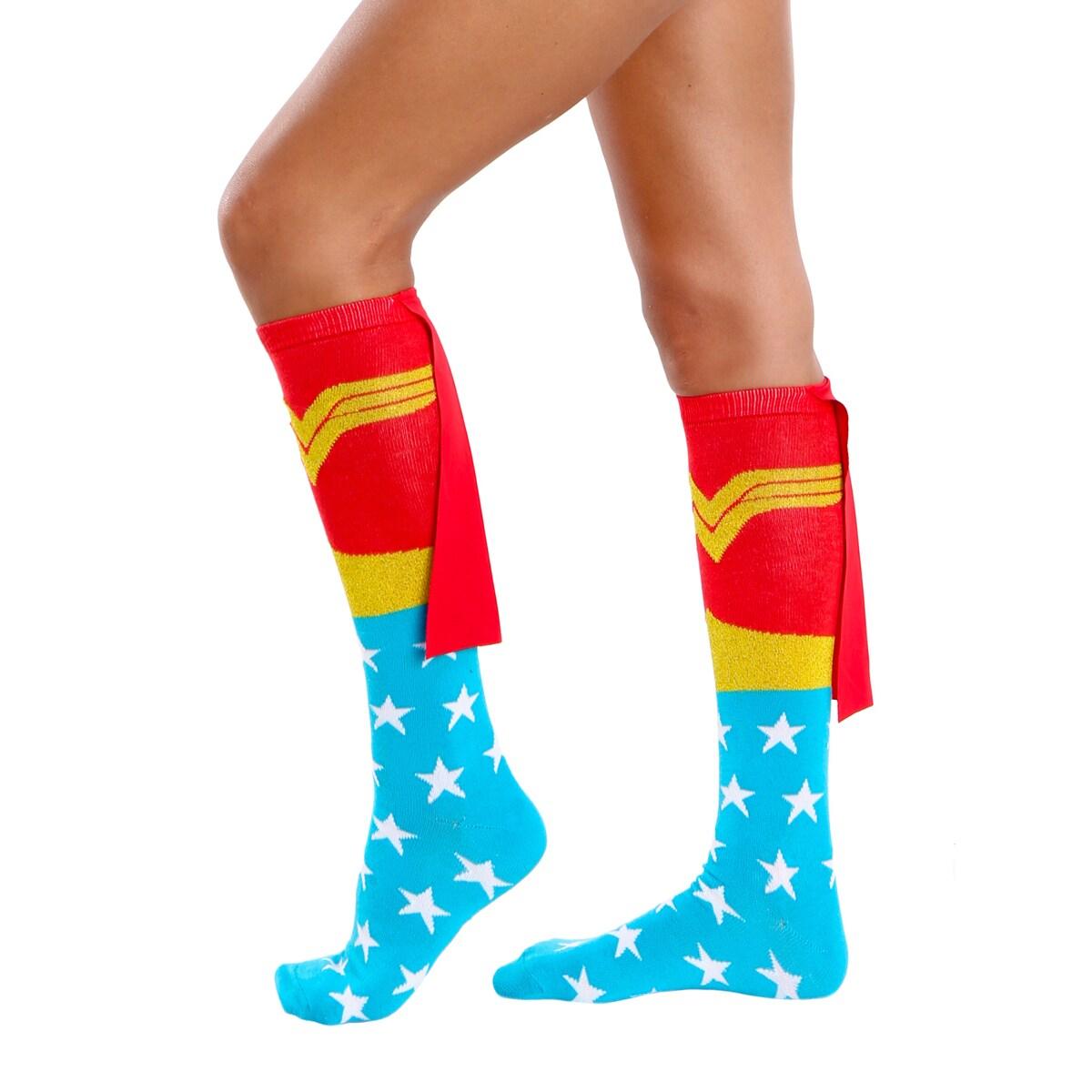 DC Comics Wonder Woman Caped Knee High Socks