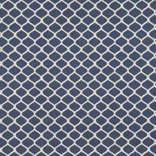 A0008E Blue Off White Modern Geometric Upholstery Fabric