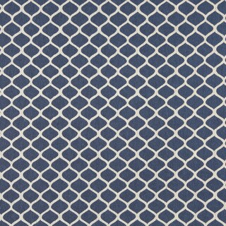 A0008E Blue Off White Modern Geometric Upholstery Fabric