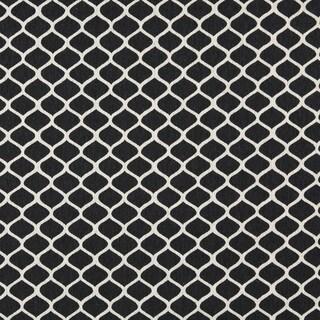 A0008G Midnight Off White Modern Geometric Designer Quality Fabric