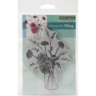 Penny Black Cling Rubber Stamp 3.5inX5in Sheet Fragrant