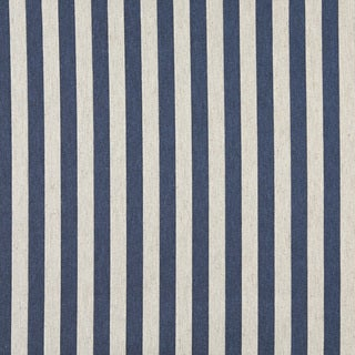 A0009E Blue Off White Striped Upholstery Fabric
