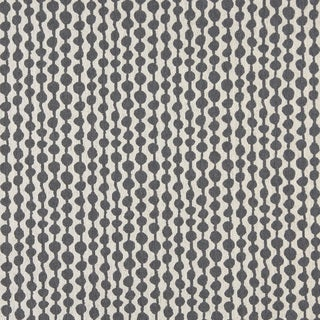 A0010B Cadet Blue Off White Circle Striped Upholstery Fabric
