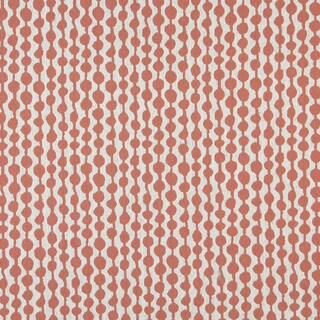 A0010C Persimmon Off White Circle Striped Upholstery Fabric