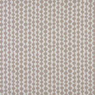 A0010F Grey Off White Circle Striped Upholstery Fabric