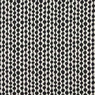 A0010G Midnight Off White Circle Striped Upholstery Fabric