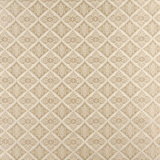 A0012D Ivory Embroidered Diamond Brocade Upholstery Fabric