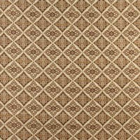 A0012E Beige Gold Brown Ivory Diamond Brocade Upholstery Fabric