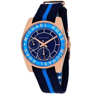 Michael Kors Women's MK2402 'Ryland' Chronograph Blue Nylon Watch