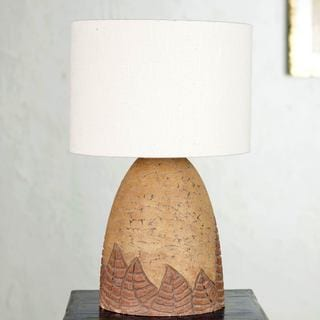 Handcrafted Ceramic 'Leaves in The Wind' Table Lamp (Mexico)