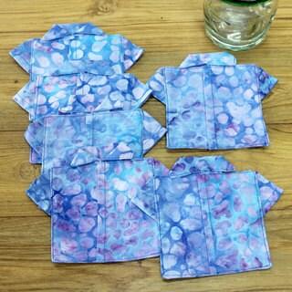 Set of 6 Handmade Cotton 'Rushing River' Coasters (Indonesia)