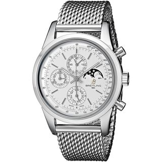 Breitling Men's A1931012-G750 'TransOcean' Automatic Chronograph Moonphase Silver Stainless steel Watch