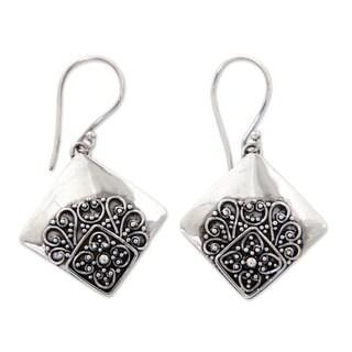 Handmade Sterling Silver 'Besakih Garden' Earrings (Indonesia)